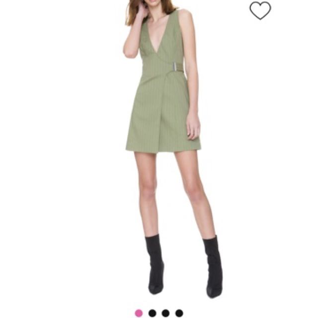 C/MEO COLLECTIVE real life wrap olive dress