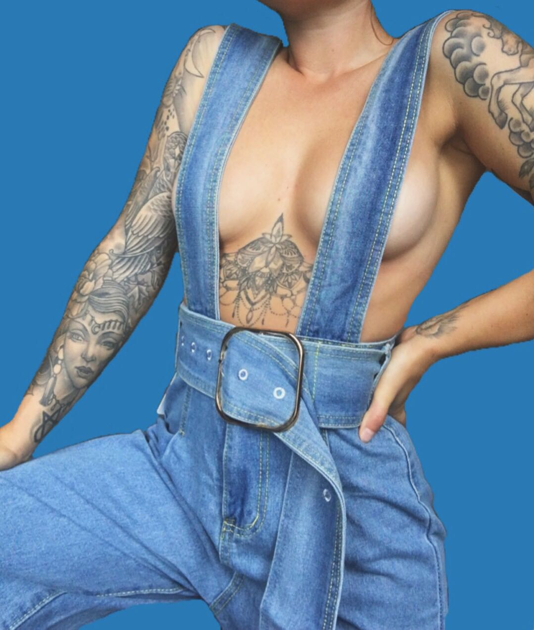 -currently out of stock- The most amazing groovy denim jumpsuit overalls!