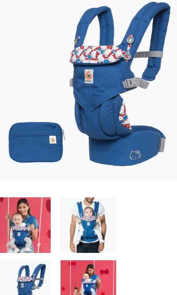 bda0c29438e Ergobaby Limited Edition Hello Kitty  Omni 360 Baby Carrier All-In-One -  Classic Kitty