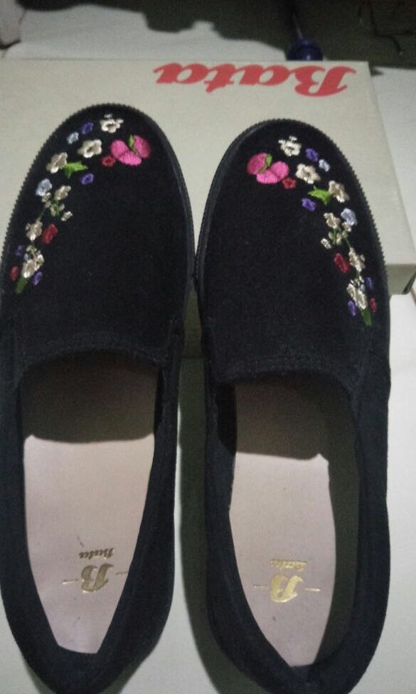 Flat shoes Bahan suade bordir