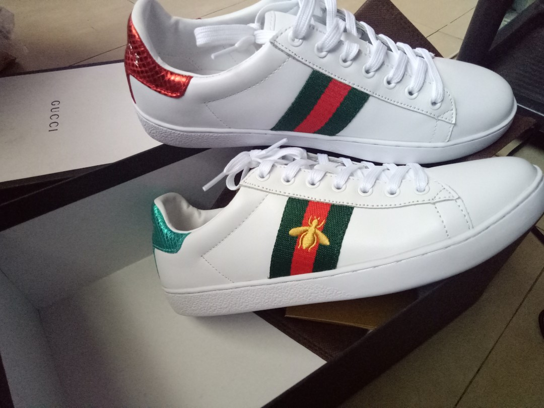 6b9a0f94257 gucci shoes ace bee size 7