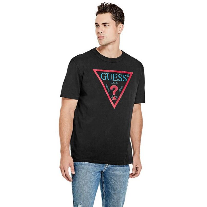 351305f41 GUESS Originals Oversized Triangle Logo Tee, Men's Fashion, Clothes on  Carousell