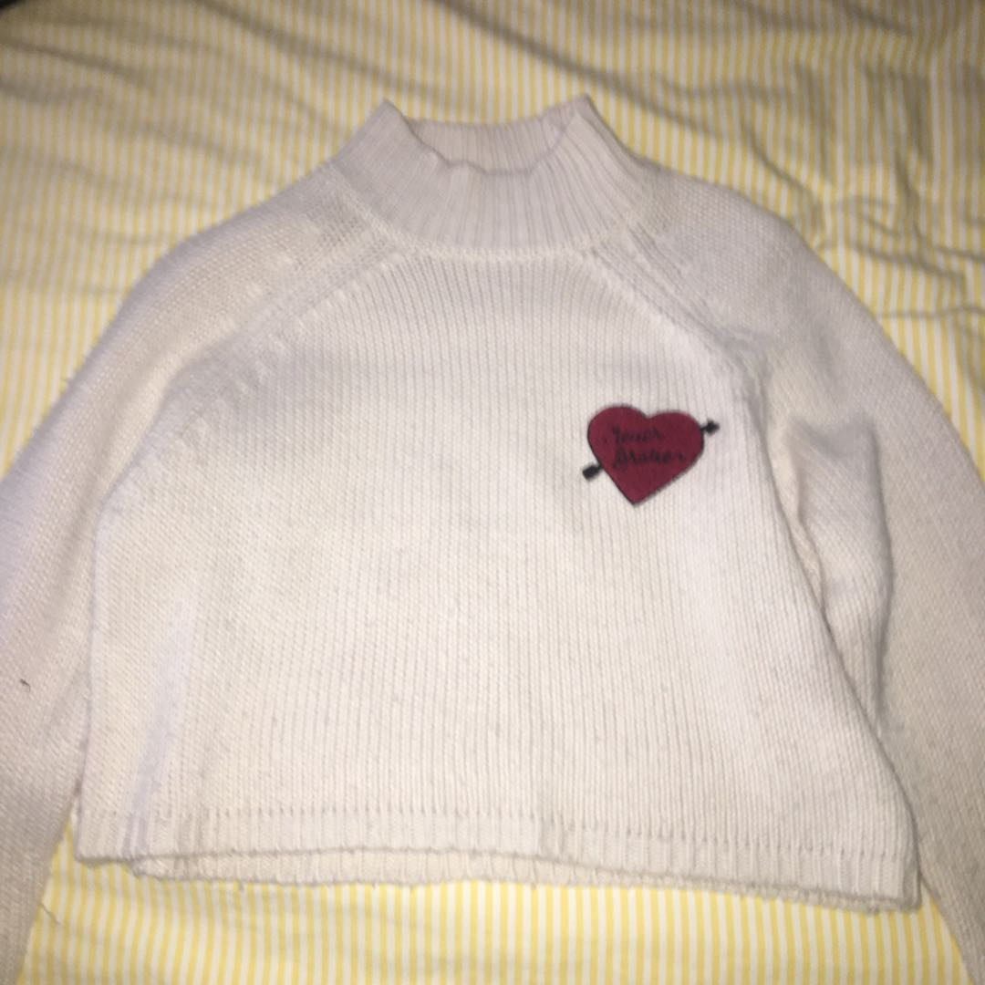 Heart Knit Turtleneck