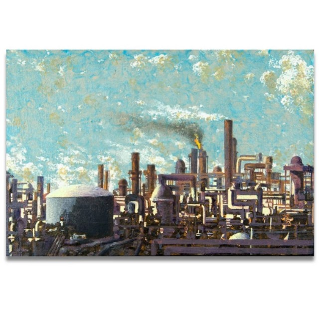 Industrial Area Handpainted Oil Painting