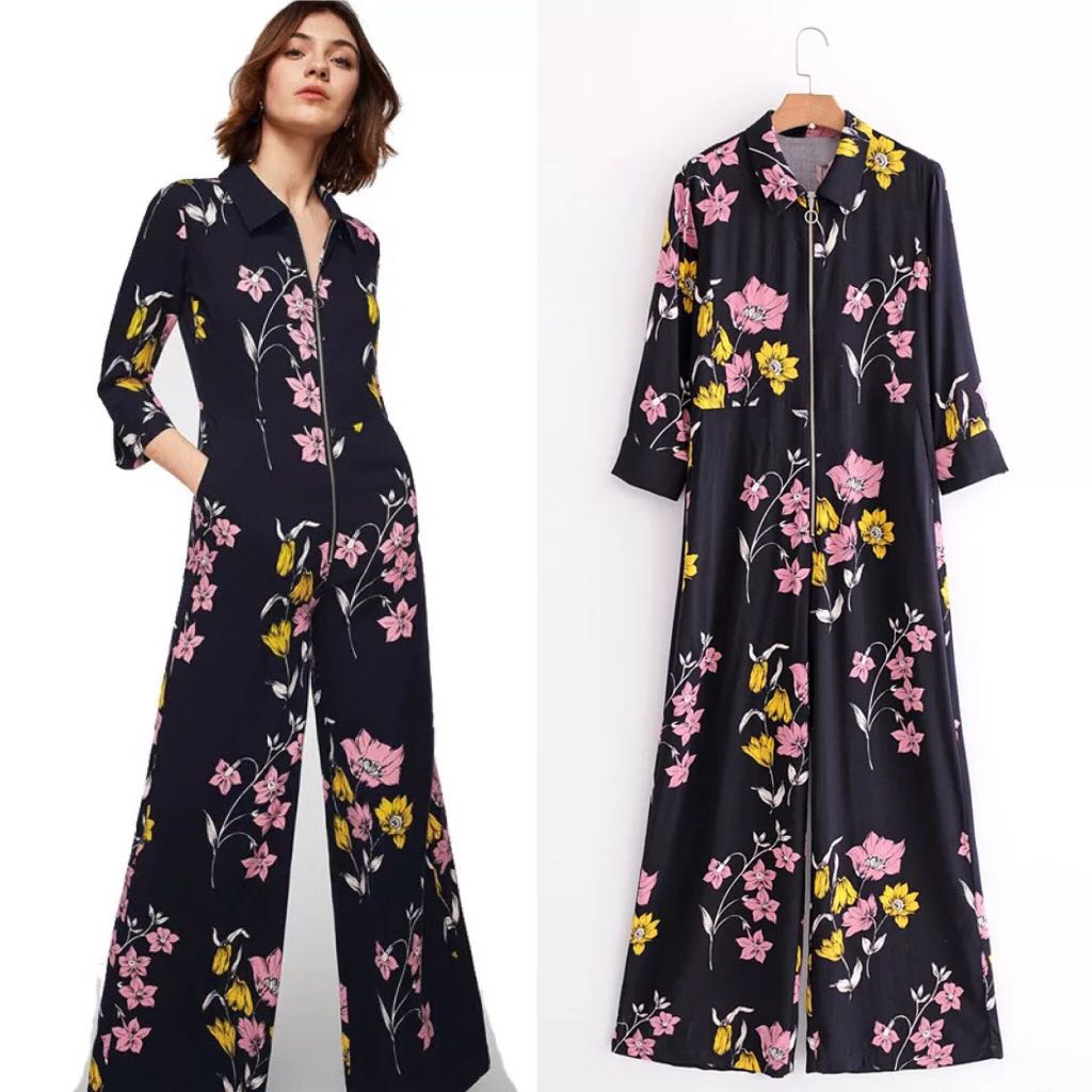 418e45099f47 💃🏼Inspired Zara Cotton Floral Jumpsuit 💃🏼