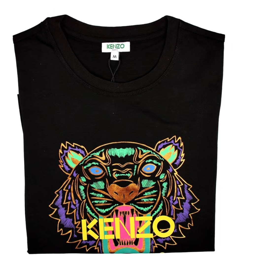 070b05e3 Kenzo Black Limited Edition Holiday Tiger T-Shirt, Women's Fashion ...