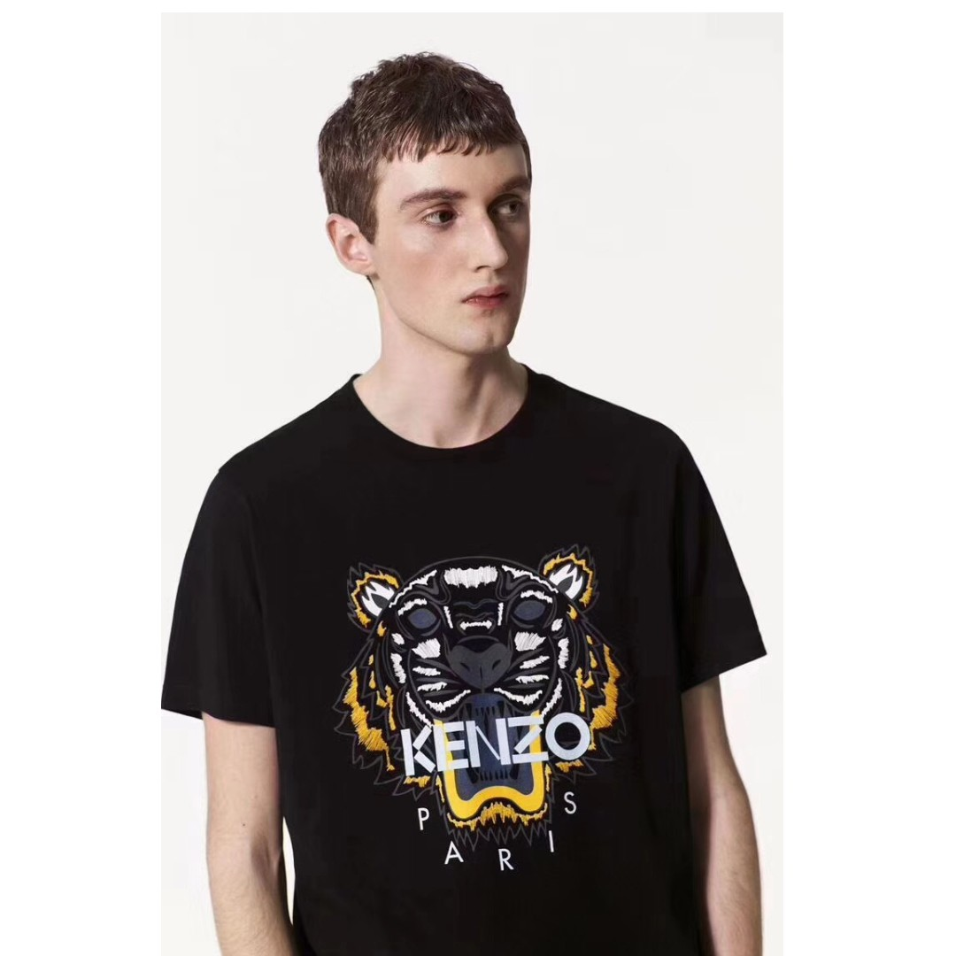 09e189295 Kenzo Tiger t-shirt Mens Black, Men's Fashion, Clothes on Carousell