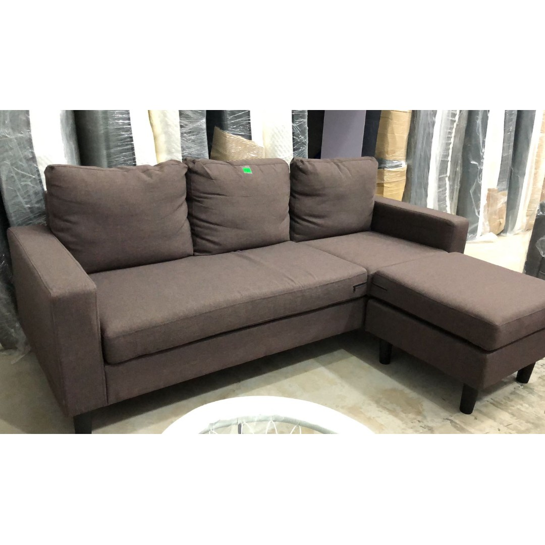 Picture of: L Shape Sofa In Brown Furniture Sofas On Carousell