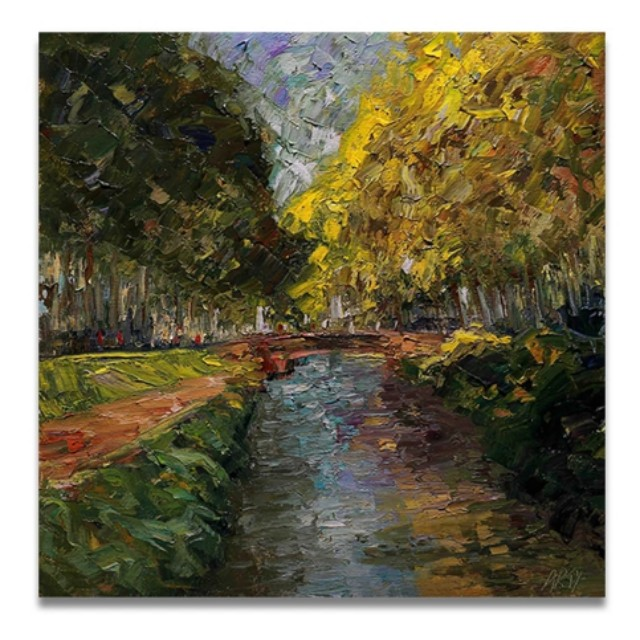 Midi Canal Handpainted Oil Painting