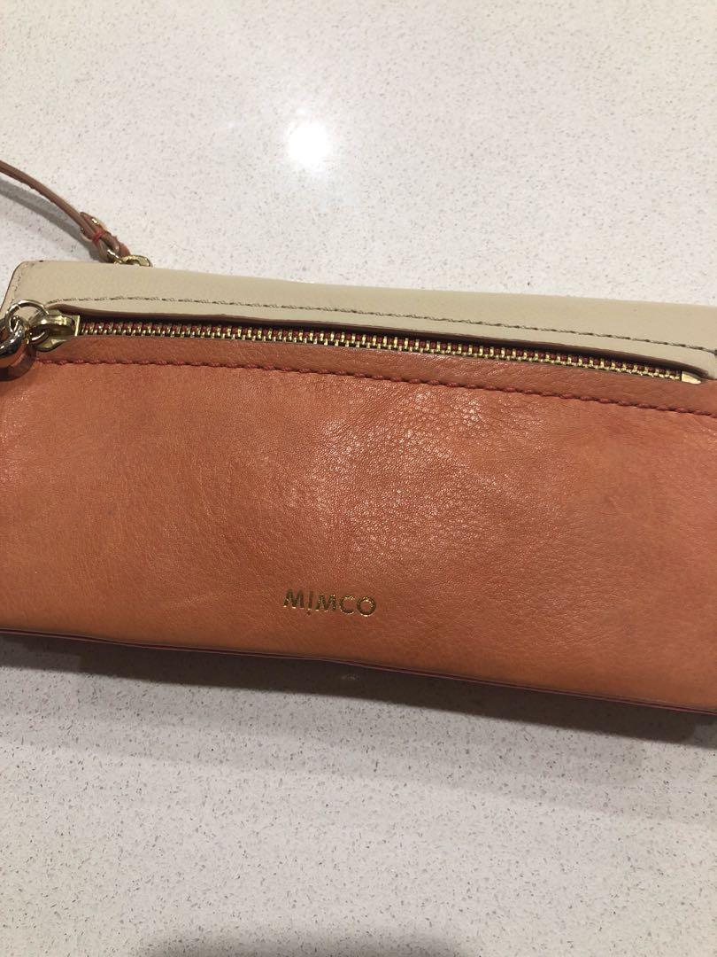 MIMCO bi-fold wallet - orange beige pink