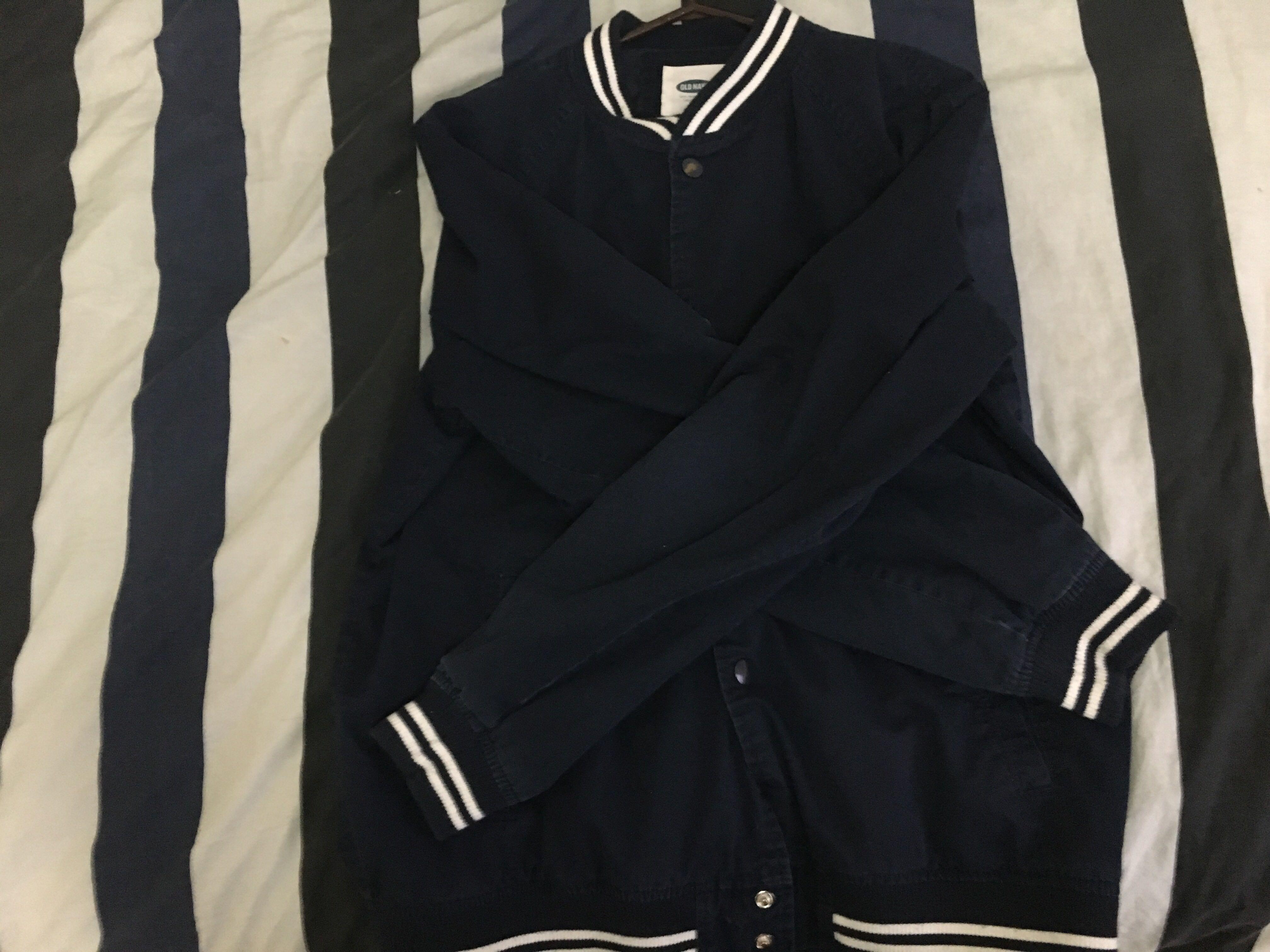 Navy Blue Varsity Jacket