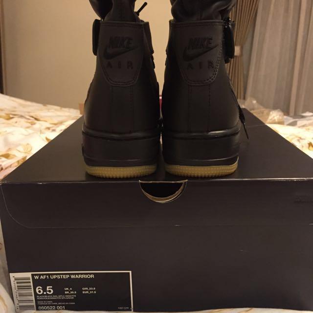 buy online bcec4 b2e5c Nike Air Force 1 AF1 Upstep Warrior 限量 23.5cm