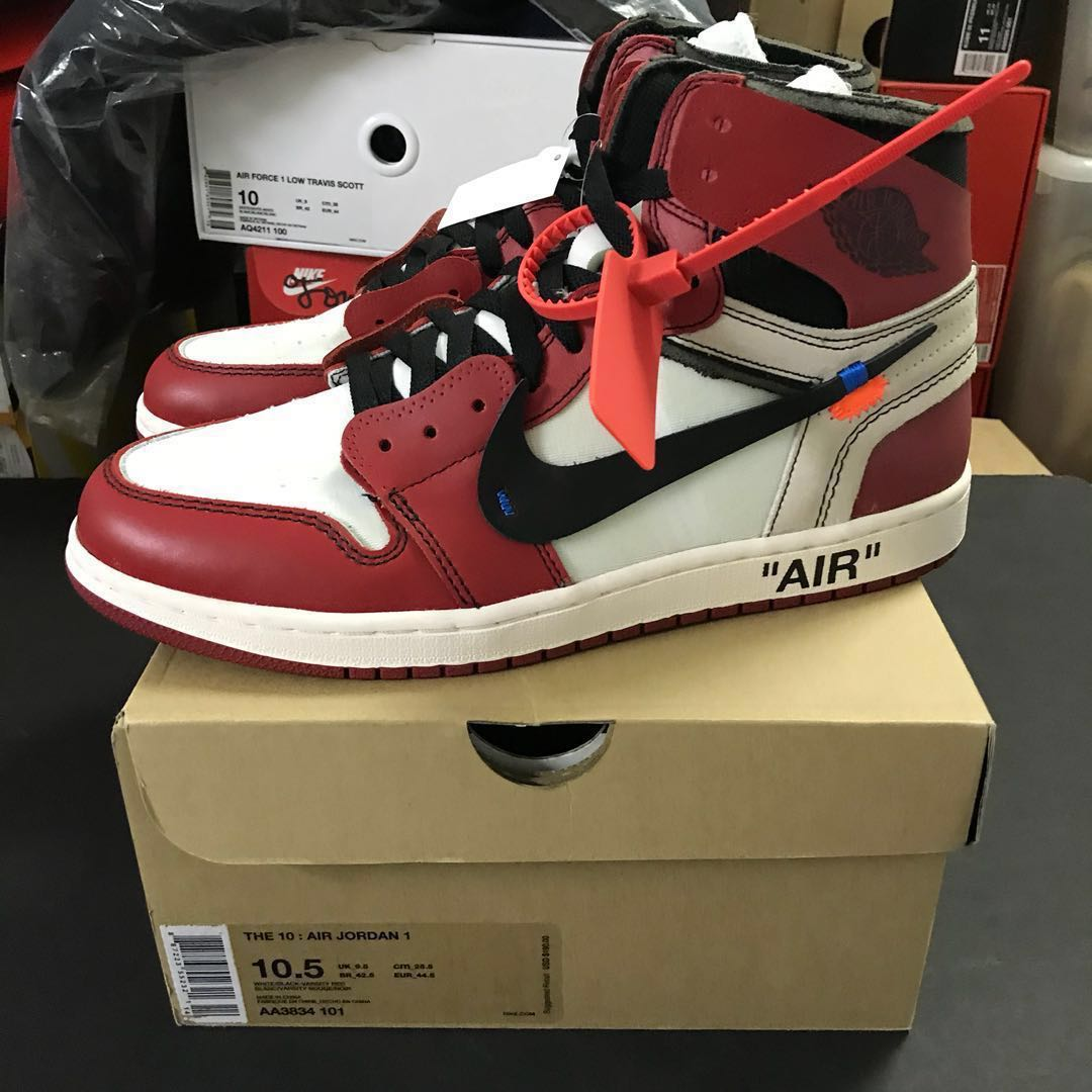41c95ede80b Nike x Off White Air Jordan 1 Chicago US 10.5, Men's Fashion, Footwear on  Carousell
