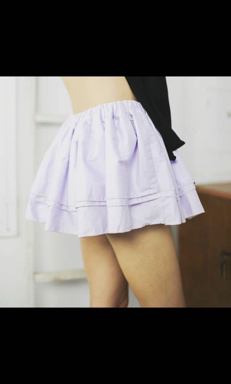 One of a kind Handmade Lilac mini skirt