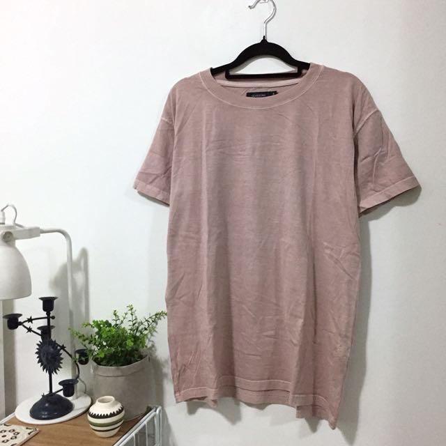 Pink Basic Distressed Colour Shirt