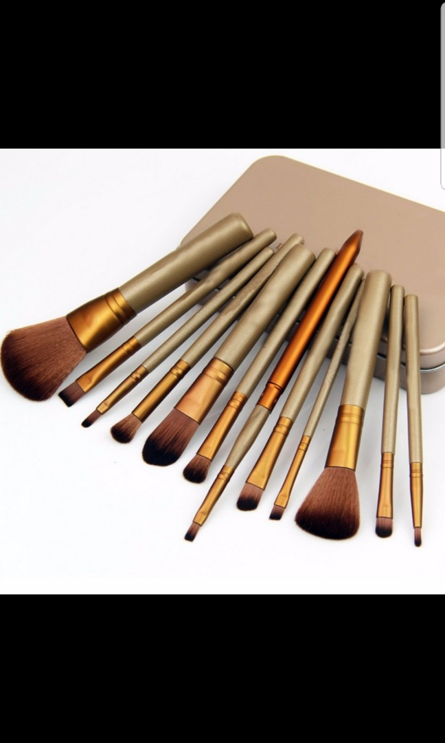Po Free Mail 12 Pcs Makeup Brushes