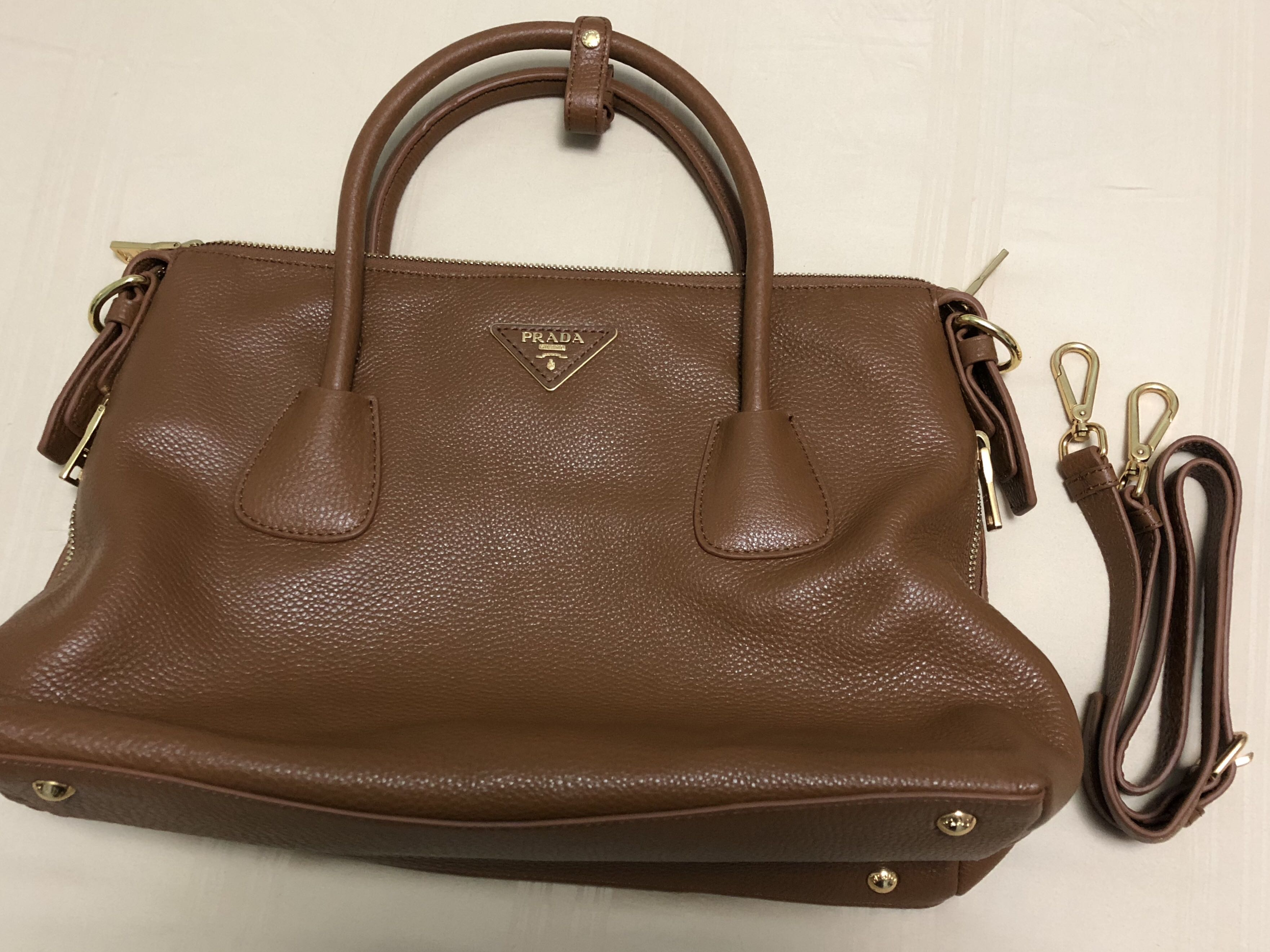 7830601be0f5 ... inexpensive prada medium brown leather shoulder bag luxury bags wallets  on 018a1 2acfd