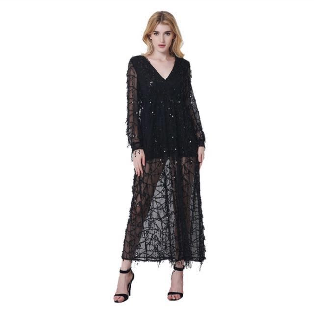 a121a31af7cb Sexi Maxi Sequin Dress XXL (Black)