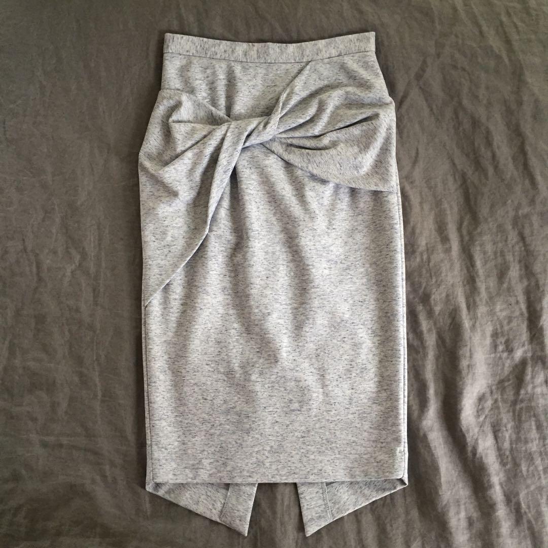 Sheike Grey Midi Skirt