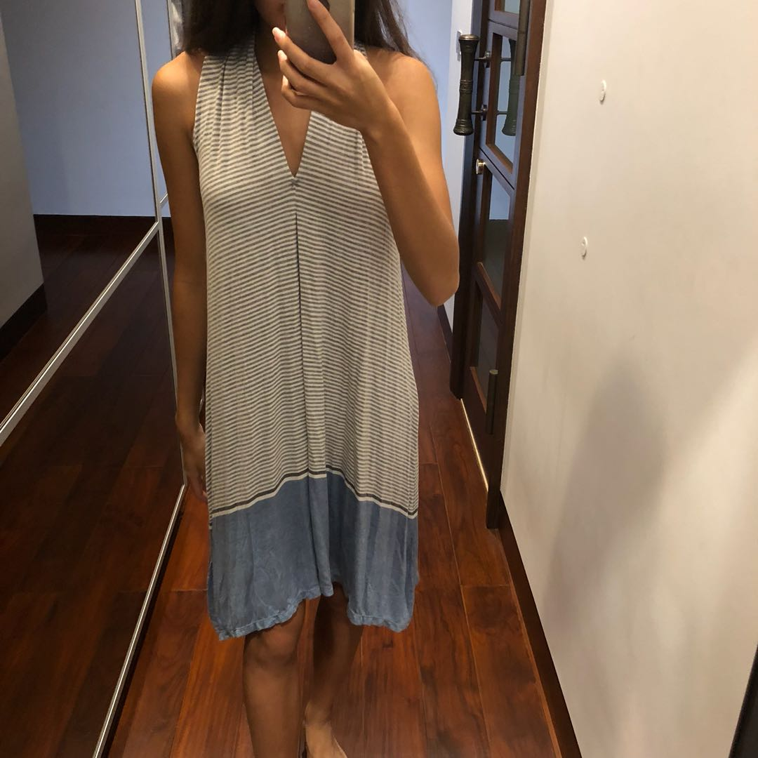 Striped blue and white dress M.S.S.S