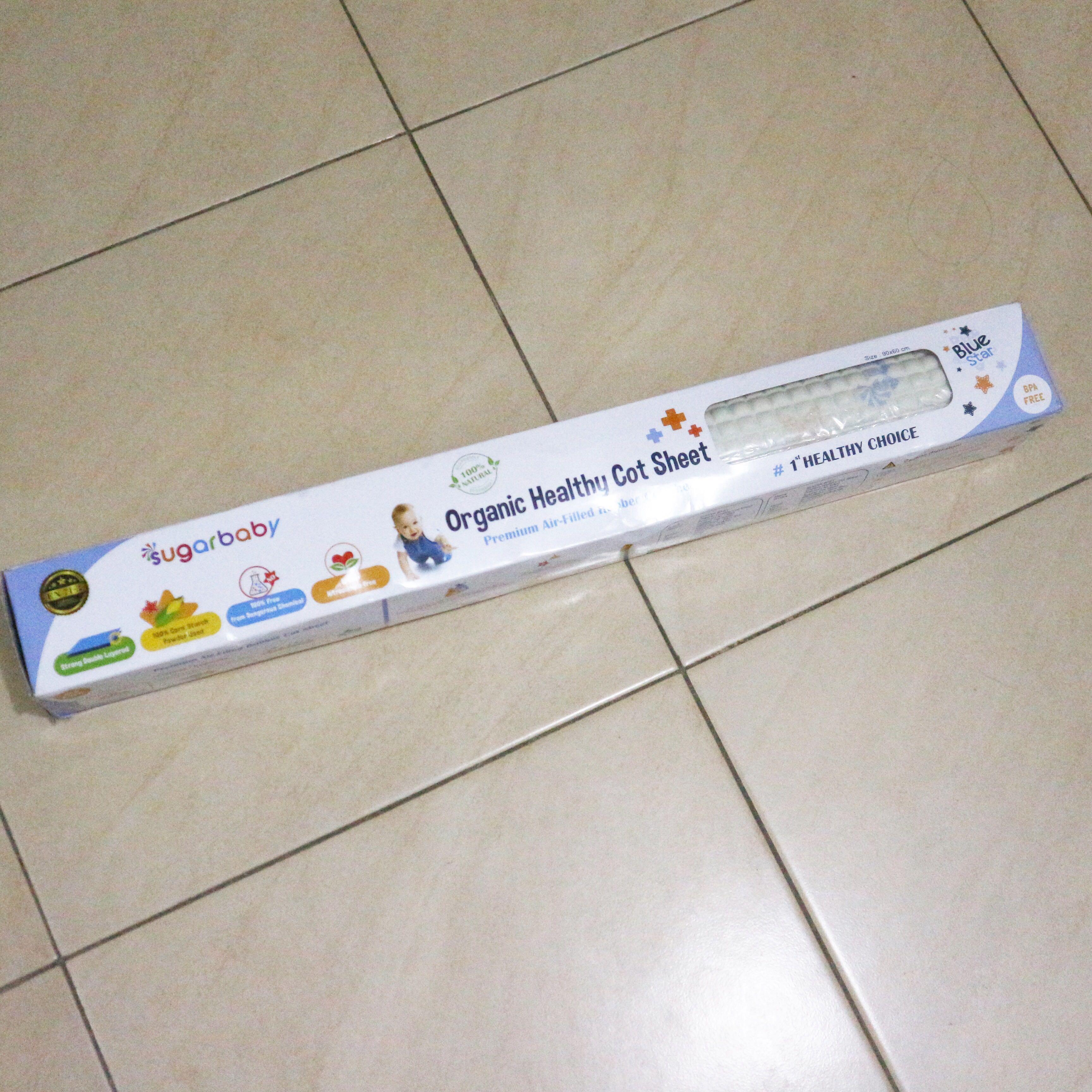 Perlak Khusus Bayi Much Sugar Baby Organik Daftar Organic Healthy Premium Air Filled Rubber Cot Sheet Blue Star