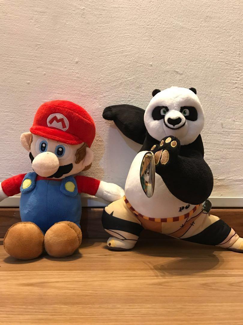ONE SUPPLIED Kung Fu Panda Keyring OR Super Mario Keyring