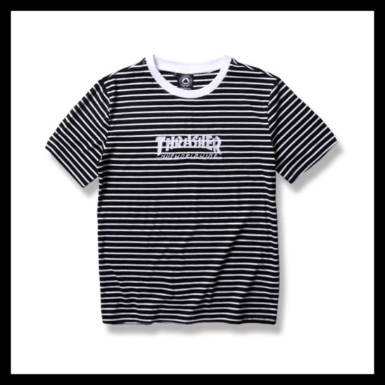 Thrasher black and white striped t shirt c64b57e9e