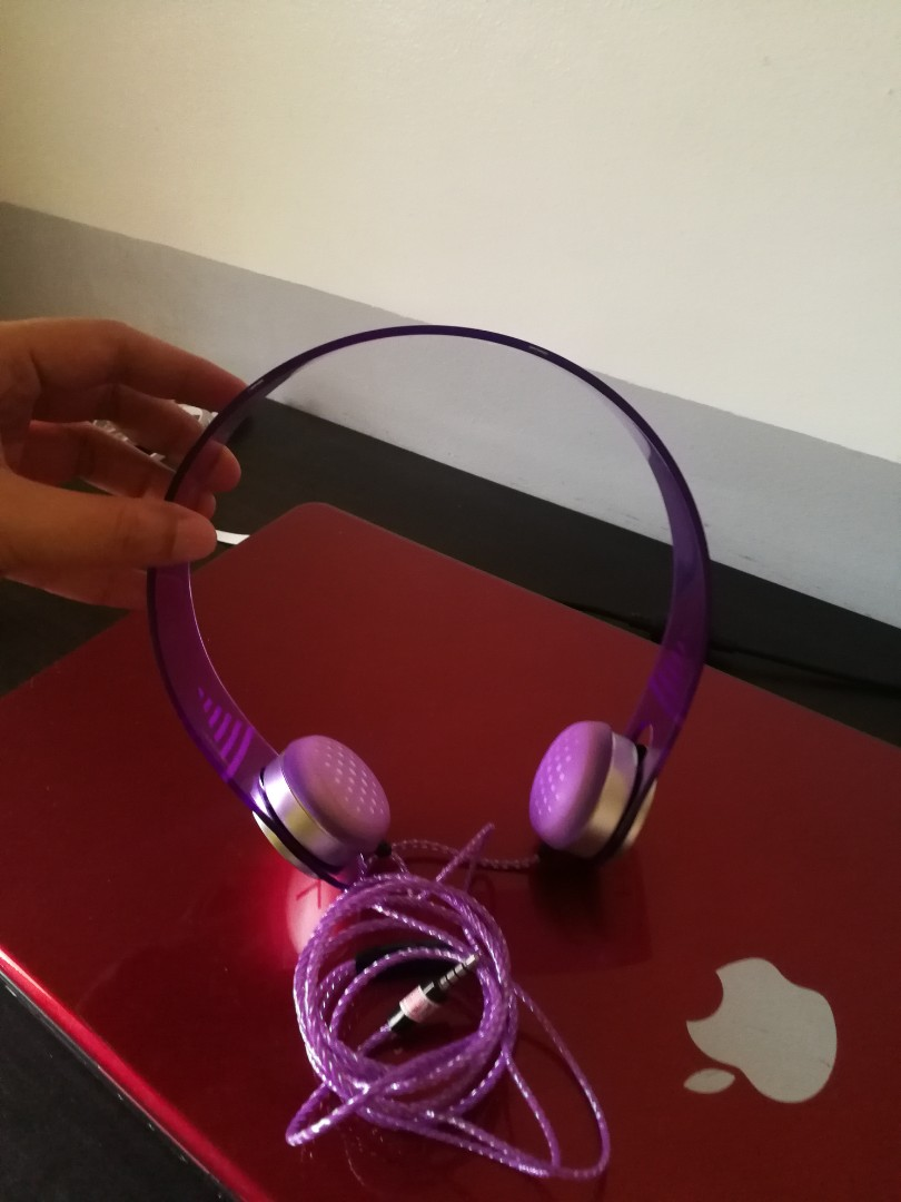 Violet headphone