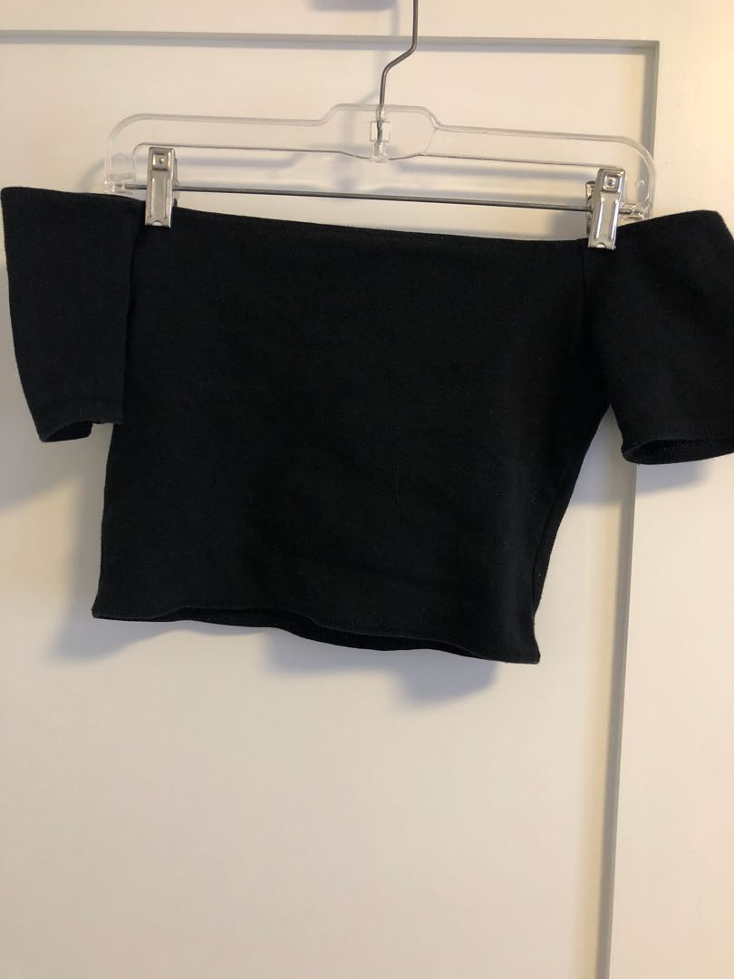 WILFRED FREE OFF SHOULDER CROP TOP SIZE SMALL
