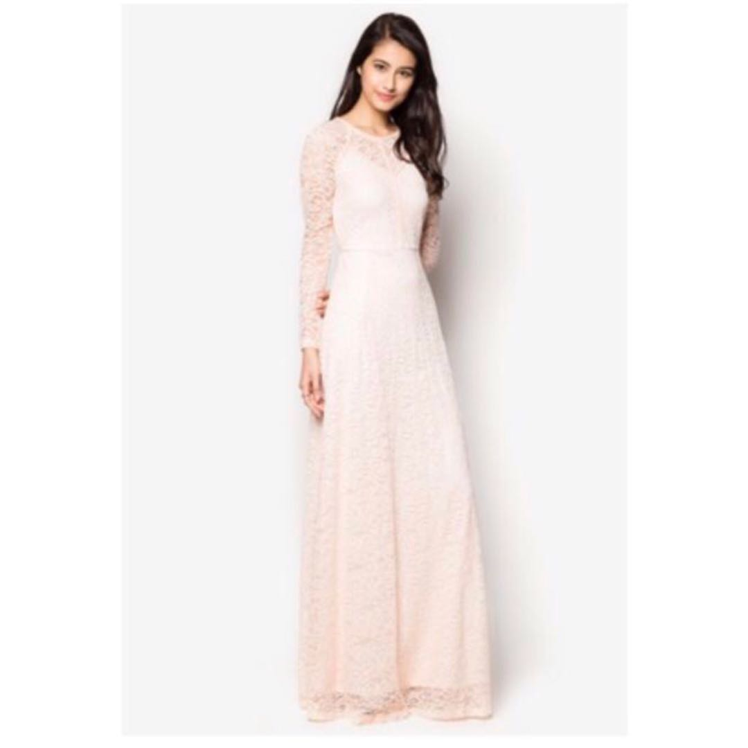 085a4954755f Zalia Contrast Lace Fit & Flare Maxi Dress, Women's Fashion, Clothes,  Dresses on Carousell