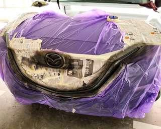 Plasti dip your car 🚗 Plastidip Mazda 3 Front grille & logo