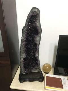 🚚 巴西紫晶洞,包含底座