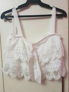 White Lacy Top