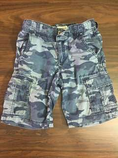 Gymboree Blue Camouflage Cargo Shorts