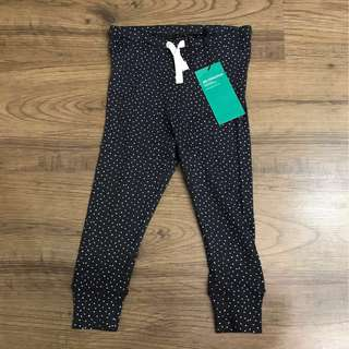 H&M Dark Grey with White Polka Dots Leggings 9-12months