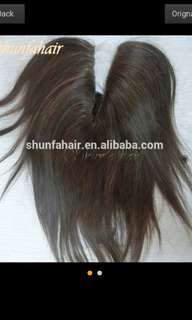 Head piece hair wig topper