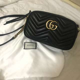 Gucci, GG marmont leather bag