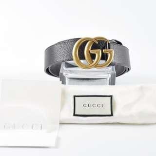 "AUTHENTIC GUCCI BELT ,  DOUBLE ""GG"" INTERLOCKING LOGO - - Size: 105CM / 42"""