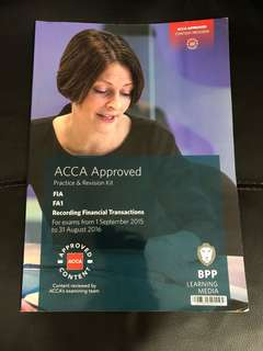 CAT ACCA FA1 Practice & Revision Kits