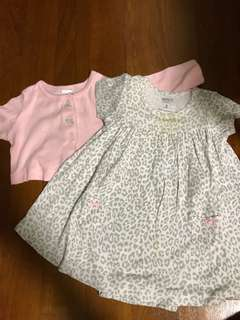 Bless: Carters Baby Girl Dress Leopard prints