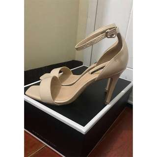 Zalora Nude Ankle Strap Sandals - Size 7