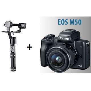 Zhiyun Crane M + Canon EOS M50