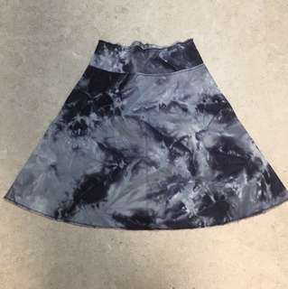 Topshop Tie-Dye Long Skirt