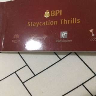 Hotel staycation and buffet vouchers