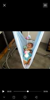 polo electronic baby spring cot net cradle