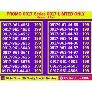Globe Sim PROMO 0917 Series Limited only