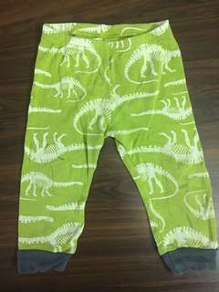 Carters Green Dinosaur Sleepwear (bottom)