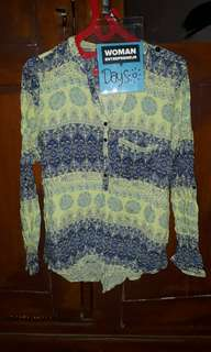 Blouse Tribal Hijau