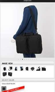 Uniqlo 3 way laptop bag