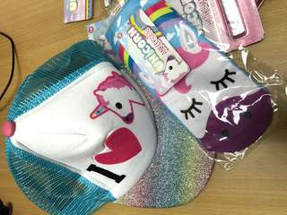 Unicorn hat & socks set